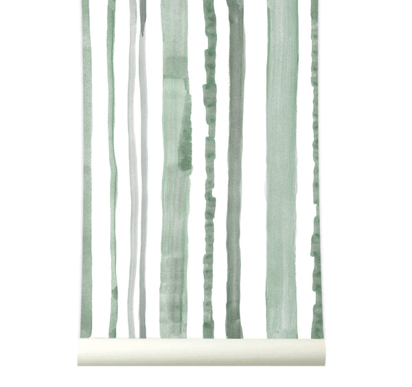 Behang Stripes Green - roomblush
