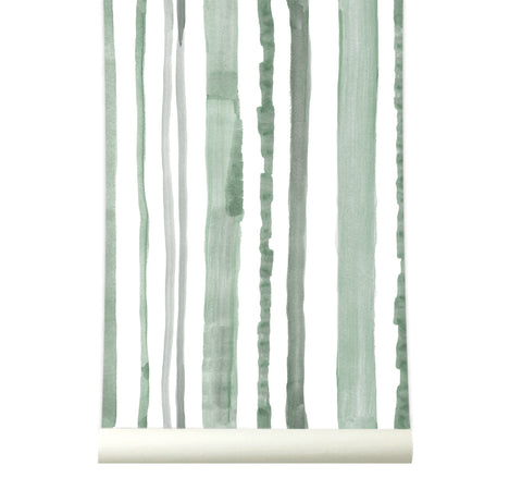 Behang Stripes Green