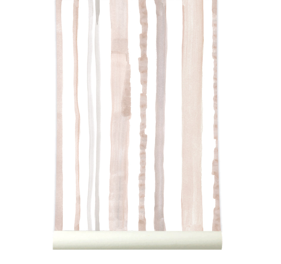 Behang Stripes Nude - roomblush