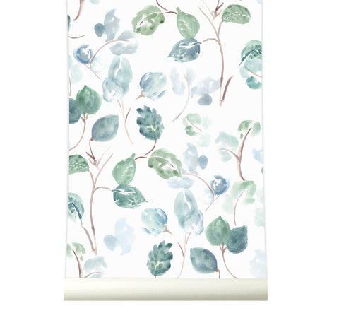 Behang Bloom Bluegreen