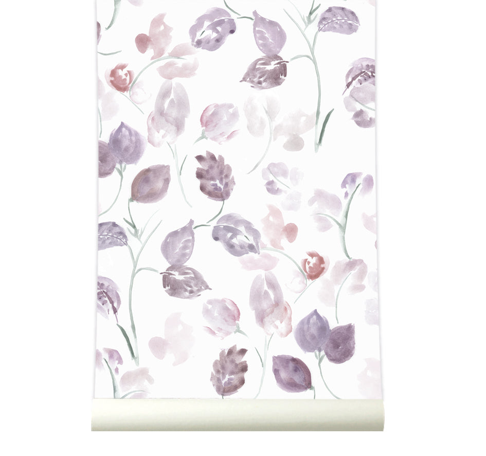 Behang Bloom Purple - roomblush