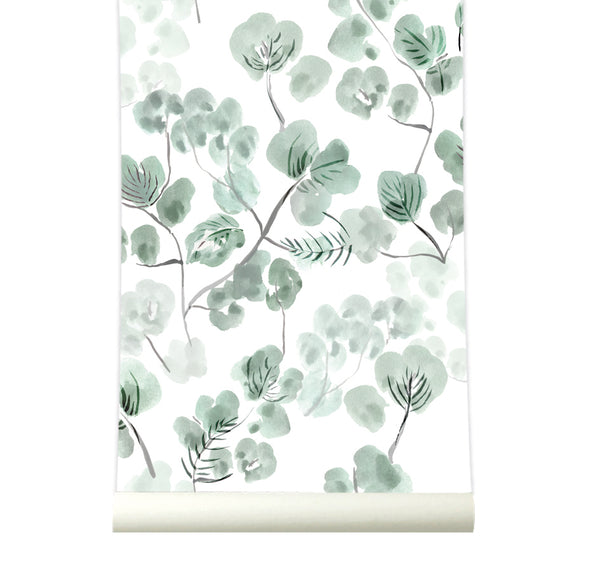 Behang Eucalyptus Green - roomblush