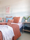 Behang Layered Blue - roomblush