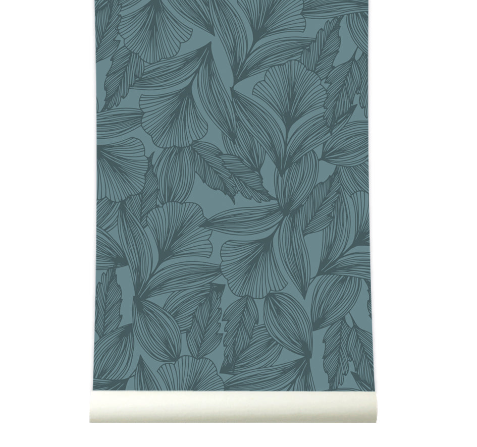 Behang Flora Blue - roomblush