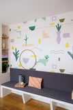 Behang Jardin Secret Pastel