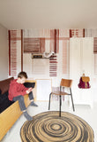 Behang Patchwork red