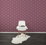 Behang Hexamix Aubergine - roomblush