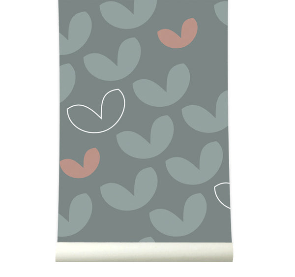 Behang Heartvaria Greenpink - roomblush