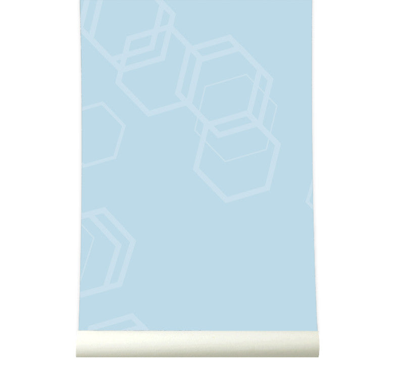 Behang Hexa Lightblue