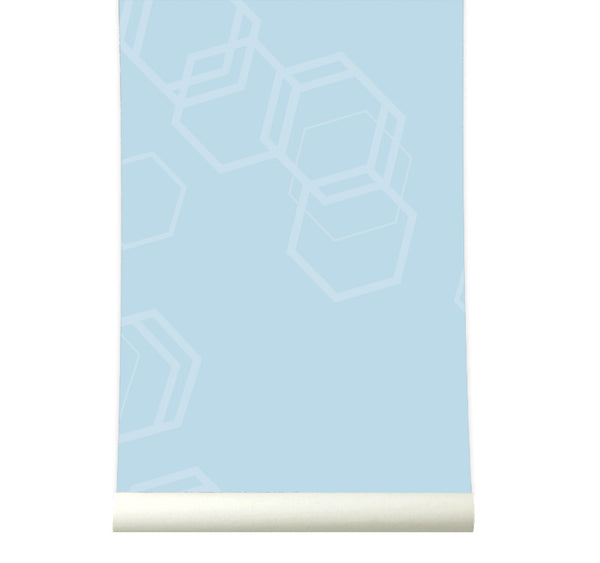 Behang Hexa Lightblue - roomblush