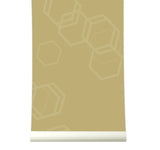 Behang Hexa Gold - roomblush