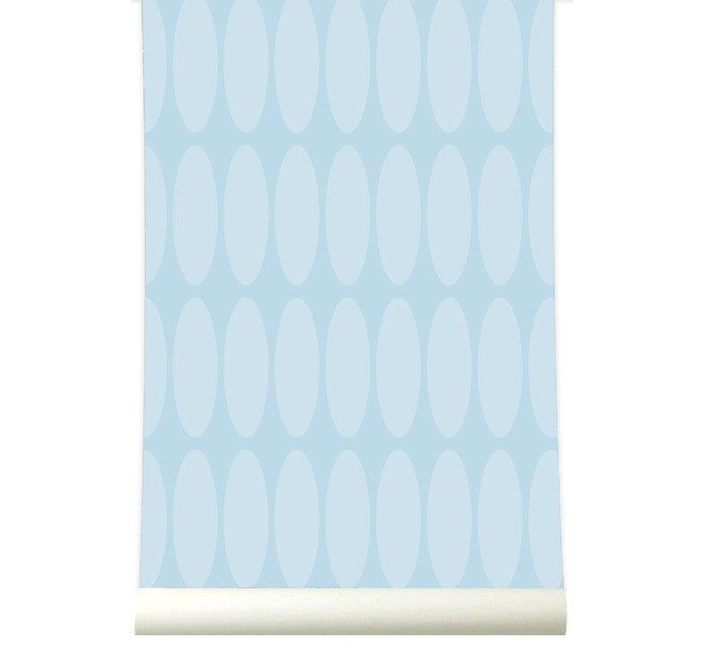 Behang Longround Lightblue - roomblush