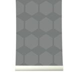 Behang Hexarow Grey - roomblush