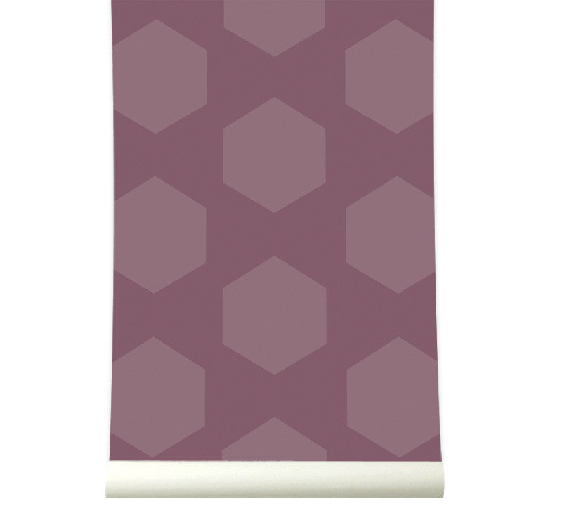 Behang Hexamix Aubergine
