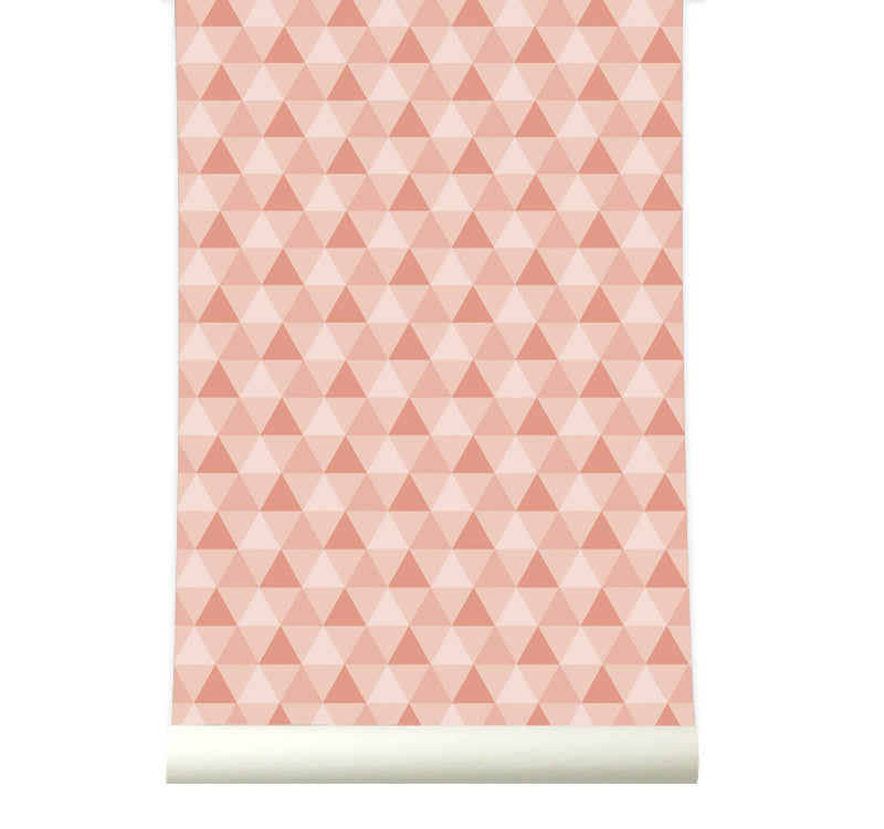 Behang Triangles Pink - roomblush