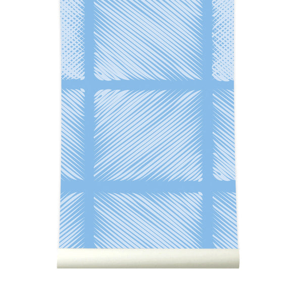 Behang Pattern Blue - roomblush
