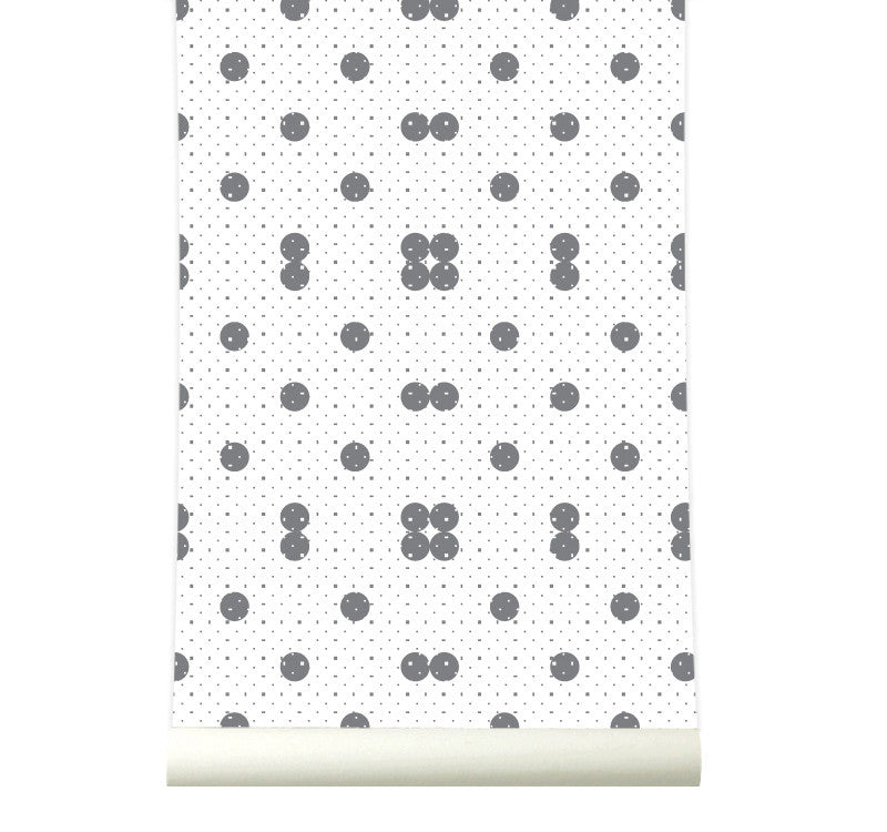 Behang Dots Grey
