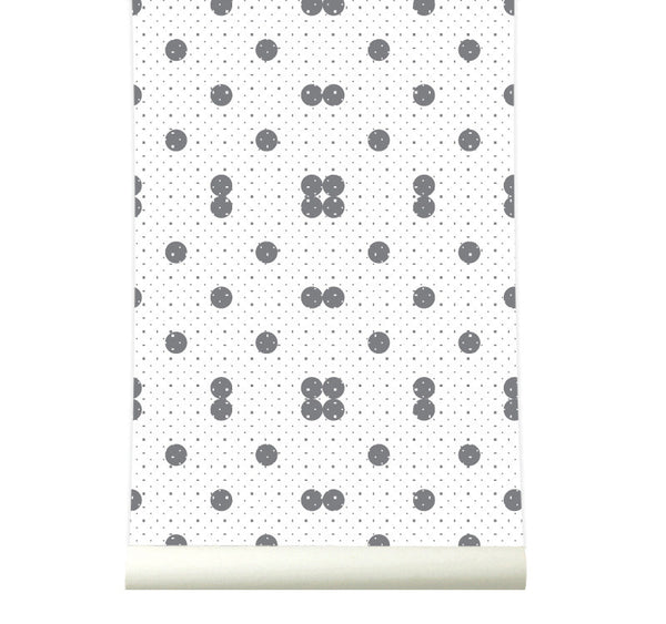 Behang Dots Grey - roomblush
