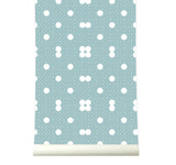Behang Dots Softblue - roomblush