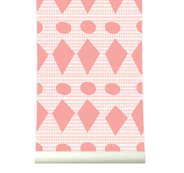 Behang Flags Pink - roomblush