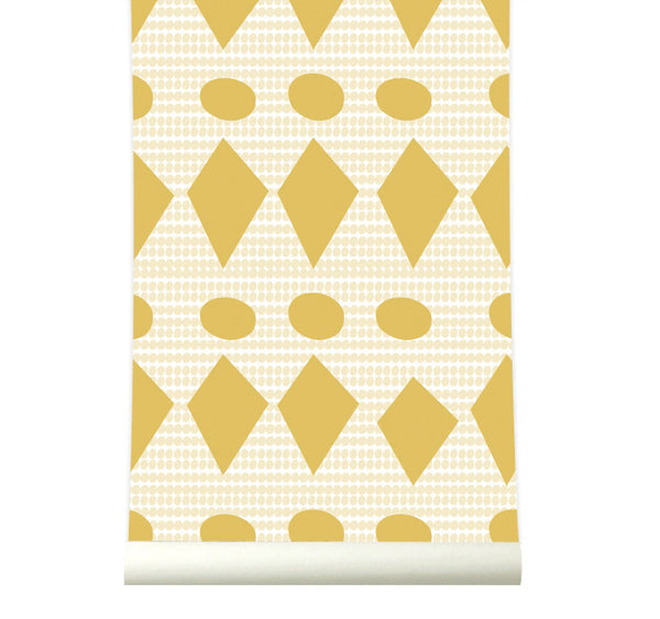 Behang Flags Yellow - roomblush