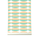 Behang Oval Orangegreen - roomblush
