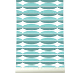 Behang Oval Blue - roomblush