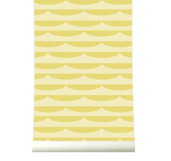 Behang Storm Yellow - roomblush