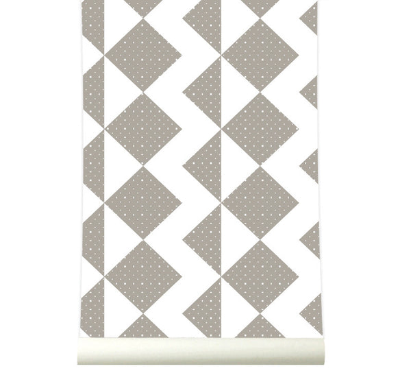 Behang Zigzag Brown - roomblush