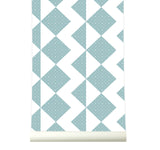 Behang Zigzag Softblue - roomblush