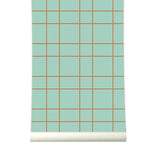 Behang Grid Pastelgreen - roomblush