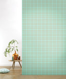 Behang Grid Pastelgreen
