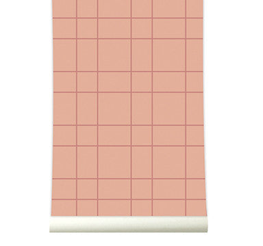 Behang Grid Copperblush
