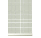 Behang Grid warmgrey