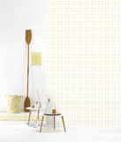 Behang Grid yellow