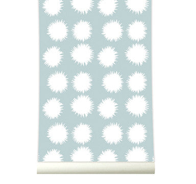 Behang Fluff softblue - roomblush