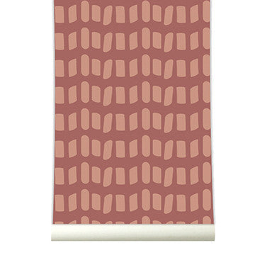 Behang Domino marsala - roomblush