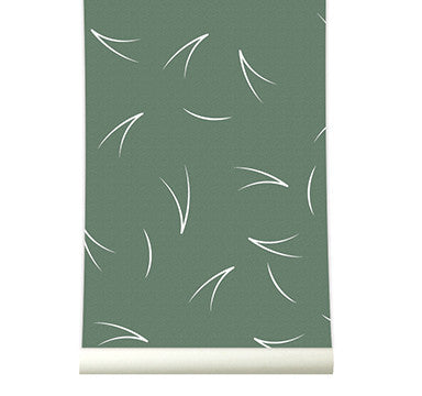 Behang Pine needle wildgreen - roomblush