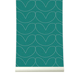 Behang Hearts green - roomblush