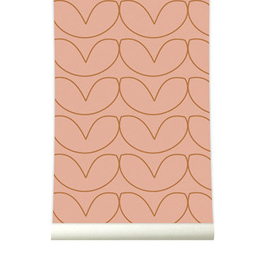 Behang Hearts copperblush - roomblush