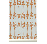 Behang Arrows coppergrey - roomblush