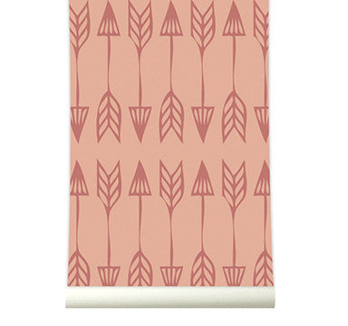 Behang Arrows marsala - roomblush