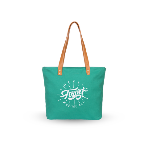 Sol Tote | Green x Never Forget Who You Are