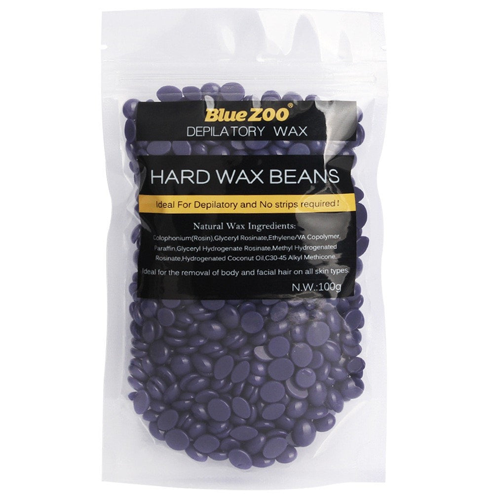 Blue Beans / Beads Waxing Hair Removal Unisex No Strip Depilatory Hot Film Hard Wax  - 100g