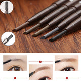 Waterproof Eye Brow & Eyeliner Pencil With Brush