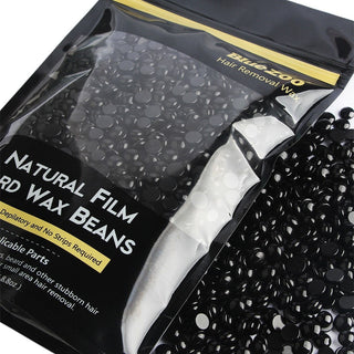 Black Beans / Beads Waxing Hair Removal Unisex No Strip Depilatory Hot Film Hard Wax - 250g