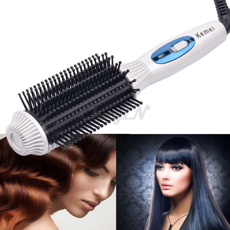 [Hot Product] 2 in 1 Straightener & Curler Combo Electrical Brush