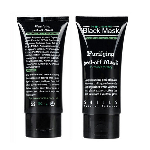 SHILLS Deep Cleansing Black Mask - Blackhead Removal Facial Mask