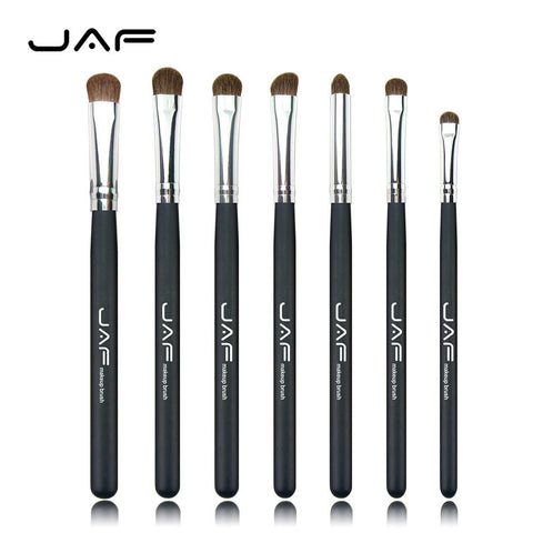 7 pcs JAF Natural Hair Eye Makeup Brushes Professional Set