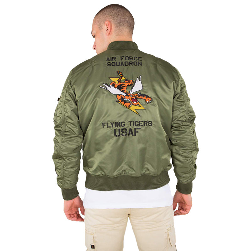 Alpha Industries MA-1 Vf Flying Tigers Jacket in Green